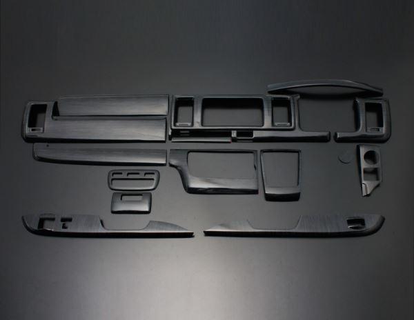 200 ハイエース ワイド | インテリアパネル【フェガーリ】【送料無料!!】ハイエース 200系 4型/5型 S-GL ワイドボディ ハイグレード インテリアパネル 15ピース 黒木目