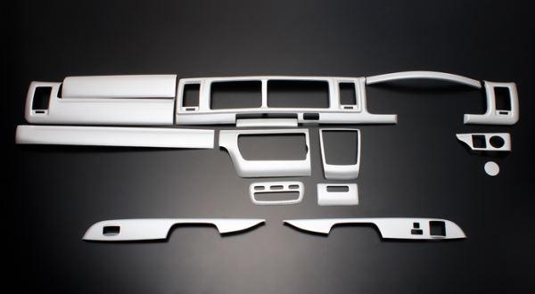 200 ハイエース ワイド | インテリアパネル【フェガーリ】【送料無料!!】ハイエース 200系 4型/5型 S-GL ワイドボディ ハイグレード インテリアパネル 15ピース ホワイトカーボン