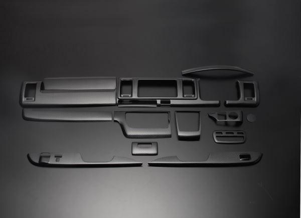 200 ハイエース ワイド | インテリアパネル【フェガーリ】【送料無料!!】ハイエース 200系 4型/5型 DX ワイドボディ ハイグレード インテリアパネル 14ピース カーボン