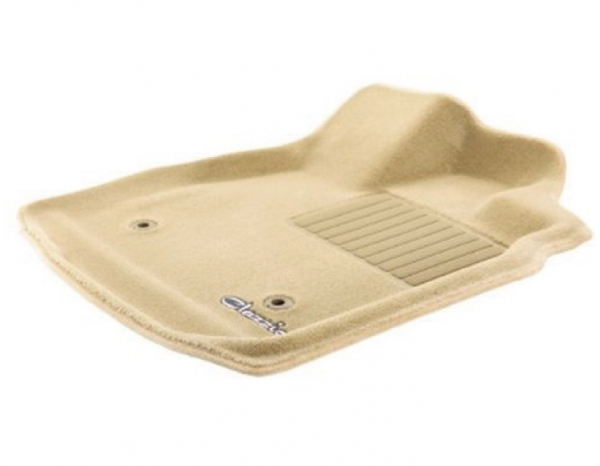 プラド 150 | フロアマット【クラッツィオ】ランドクルーザープラド 150系 (2013/9-) 7人乗り 立体フロアマット 1台分セット カーペットタイプ ベージュ