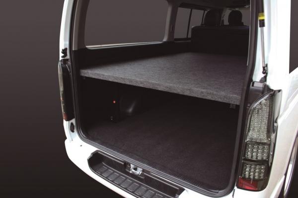 200 ハイエース   ベットキット【ルナインターナショナル】ハイエース 200系 1-5型 S-GL 標準ボディ パワースライドドア付車 ベッドキット パンチカーペット