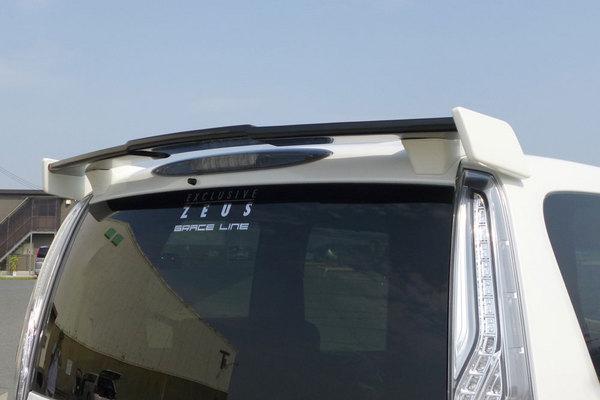 C26 セレナ | ルーフスポイラー / ハッチスポイラー【エクスクルージブ ゼウス】セレナ C26 ハイウェイスター 後期 GRACE LINE リアウィング メーカー単色塗装済 カラー:ブリリアントホワイトパール