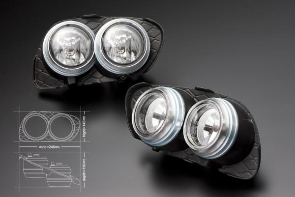 161 アリスト | フロントフォグランプ【ジェイユニット】LEXUS GS ICE BLUE Series フォグキット GS430/400 ダブル (フォグランプ4灯/フォグカバー)