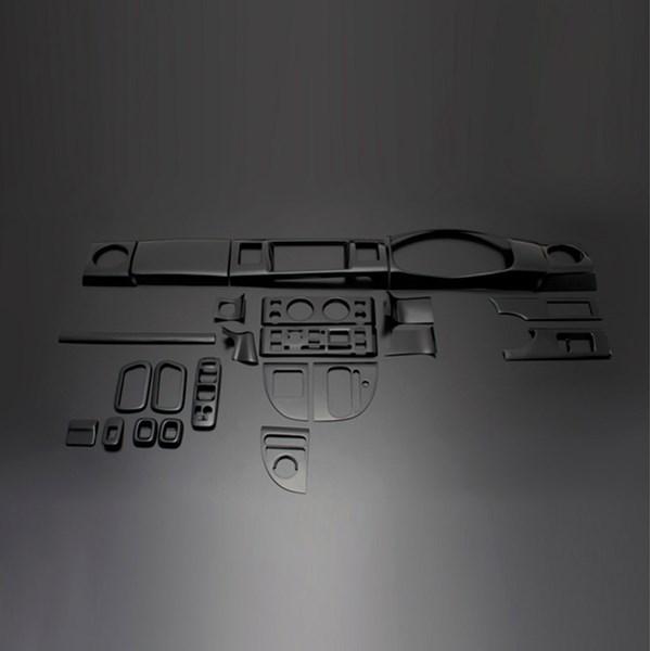 DA64W エブリイワゴン | インテリアパネル【フェガーリ】【送料無料!!】エブリイワゴン DA64W (2005/8-2015/2) ハイグレード インテリアパネル 24ピースセット ピアノブラック