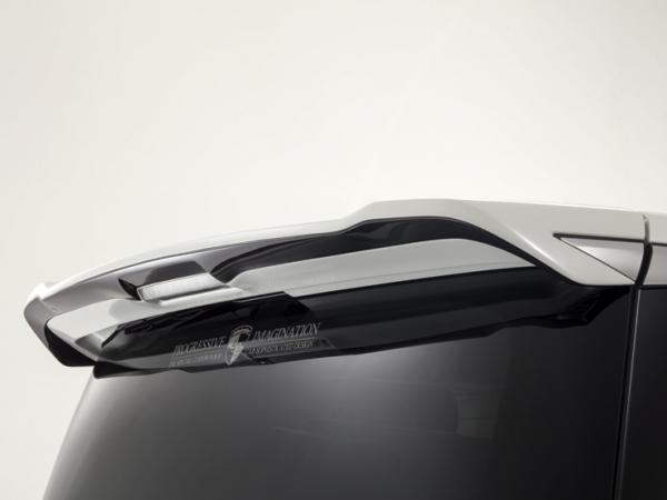 30 アルファード | リアウイング / リアスポイラー【アドミレイション】アルファード 30系 後期 ベルタ リヤルーフウイング 塗装済2色塗り分け ブラック202/ガンメタ11BK12