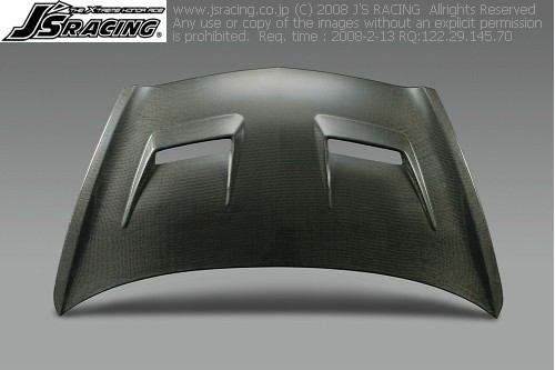 GD1-4 フィット | ボンネット ( フード )【ジェイズレーシング】FIT GD エアロボンネット Type-V フルカーボン