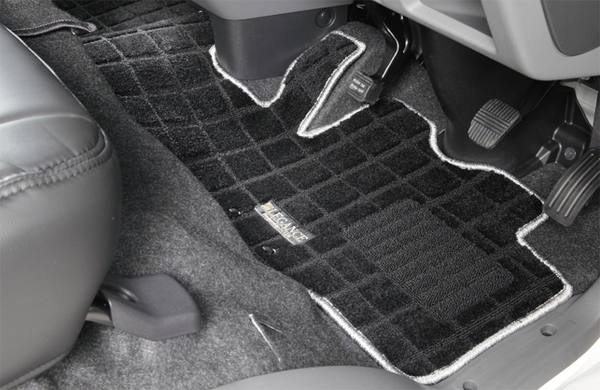 E26 NV350 キャラバン CARAVAN   フロアマット【レガンス】NV350キャラバン E26 バンプレミアムGX 左右セット ワッフルステップマット マットカラー:ブラック/フチ:ココア