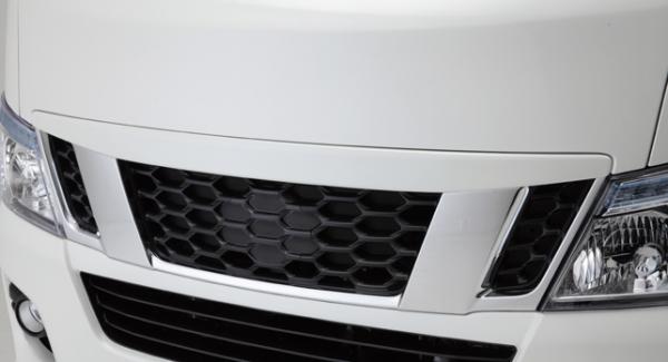 E26 NV350 キャラバン CARAVAN | フロントグリル【レガンス】NV350キャラバン E26 ABSグリルカバー メーカー塗装 スーパーブラック