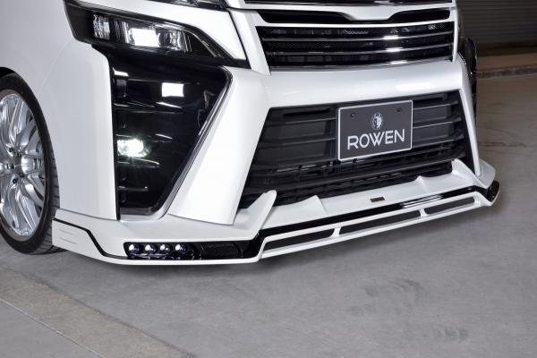 80/85 ヴォクシー VOXY | フロントハーフ【ロエン / トミーカイラ】ヴォクシー ZRR80/85 ZS-grade 後期 フロントスポイラー FRP(単色塗装)ボルドーマイカメタリック(3R9) LEDスポットランプカラー:ホワイト
