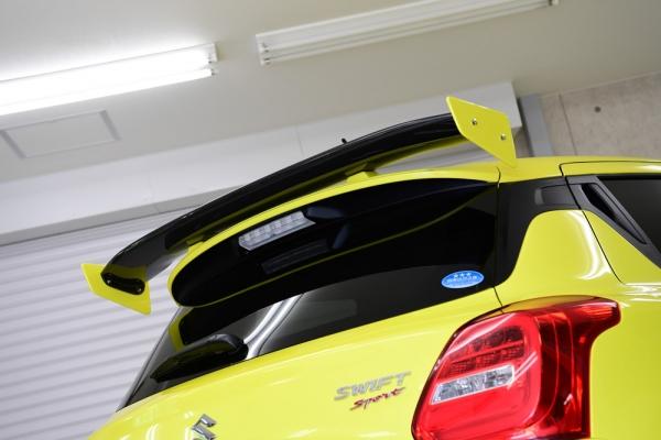 スイフトスポーツ ZC33S | リアウイング / リアスポイラー【ノブレッセ】スイフトスポーツ ZC33S リアウイング 塗装済 カーボン)チャンピオンイエロー/クリアー