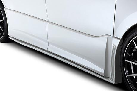 80/85 ヴォクシー VOXY | サイドステップ【トムス】ヴォクシー ZWR80W ZS サイドステップ 塗装済 ブラック (202)