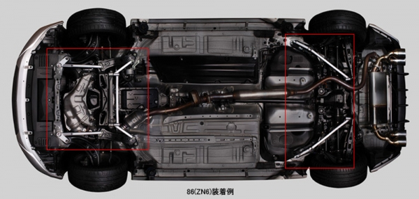 C-HR | フロアサポート / メンバーサポート【トムス】CHR ZYX10系/NGX50系 (H28/12-) メンバーブレース リア用