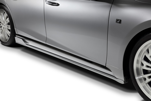 レクサス LS VXFA5# / GVF5# | サイドステップ【トムス】LEXUS LS500/LS500h 50系 サイドディフューザー 塗装済 フラットブラック