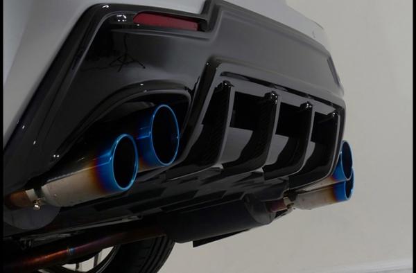 レクサス RC F | リアバンパーカバー / リアハーフ【トムス】LEXUS RC F USC10 (2014/9-2019/4) リアバンパーディフューザー 塗装済 ヒートブルーコントラストレイヤリング (8X1)