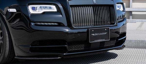 フロントリップ【アーティシャンスピリッツ】ROLLS-ROYCEレイス 【SPORTS 665C | Edition】フロントアンダースポイラー(CFRP) Rolls-Royce LINE YAMATO LABAL BLACK Wraith