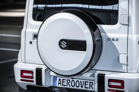 ジムニー タイヤカバー AERO OVER JB64 本日の目玉 エアロオーバー G62 G62S JB74 ※アウトレット品 スペアタイヤカバー ジムニーシエラ