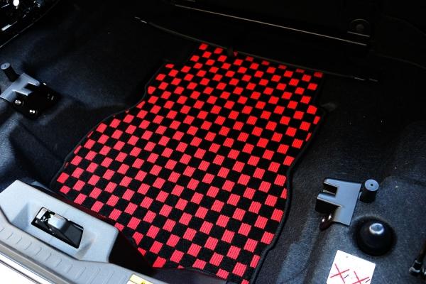 コペン | トランクマット/ラゲッジマット【テイクオフ】コペン LA400K ラゲッジマット 生地カラー:パープル チェッカータイプ