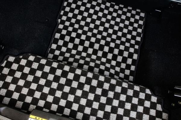 コペン   トランクマット/ラゲッジマット【テイクオフ】コペン L880K ラゲッジマット ロングタイプ 生地カラー:ホワイト チェッカータイプ