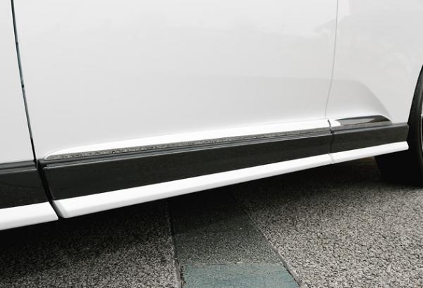 レクサス RX | サイドステップ【ジーコーポレーション】LEXUS RX 後期 サイドパネル 塗装済 2-tone FRP製 スターライトブラックガラスフレーク(217)+ガンメタリック2 (GM2)