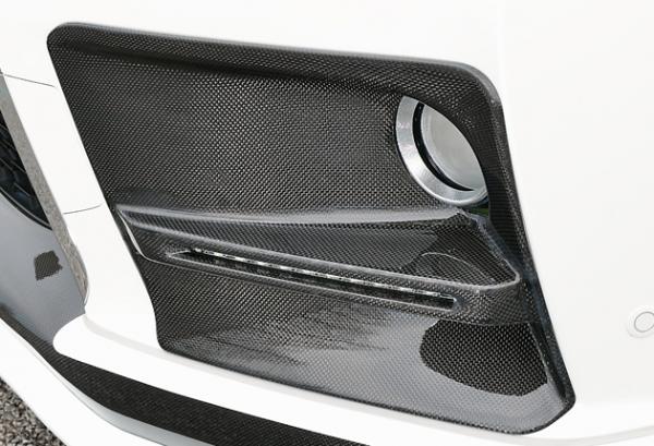 レクサス RX | フォグカバー【ジーコーポレーション】LEXUS RX 後期 フォグランプガーニッシュ LEDデイライト付 塗装済 FRP製 ラピスラズリマイカ (8V3)