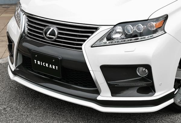 レクサス RX | フロントリップ【ジーコーポレーション】LEXUS RX 後期 フロントスポイラー 塗装済 2-tone FRP製 プラチナムシルバーメタリック(1J4)+ガンメタリック2 (GM2)