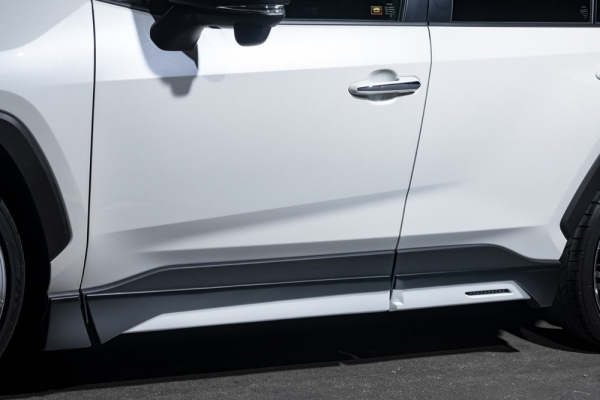 RAV4 XA50 | サイドステップ【エクスクルージブ ゼウス】新型RAV4 MXAA54/AXAH54 LUV LINE サイドステップ(ABS製) 塗装済アティチュードブラックマイカ