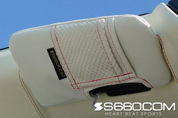 S660 | サンバイザー【S660コム】S660 スパイダー サンバイザーカバー 左右セット 運転席+助手席側バニティミラー付 ポケット無