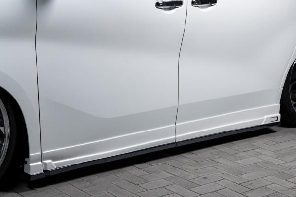 30 ヴェルファイア | サイドステップ【エクスクルージブ ゼウス】ヴェルファイア 30系 V/X grade 後期 GRACE LINE サイドステップ 塗装済ホワイトパールクリスタルシャイン