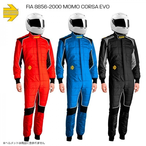 汎用 | レーシングスーツ【モモ】MOMO JAPAN正規品 FIA8856-2000公認 レーシングスーツ コルサ エボ レッド サイズ:2L