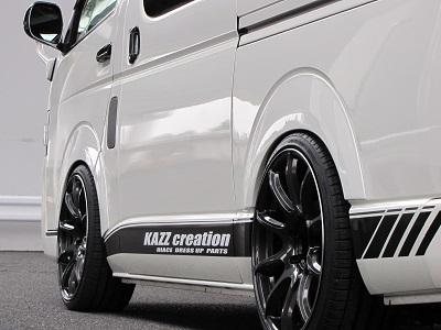200 ハイエース 標準ボディ | オーバーフェンダー / トリム【カズクリエイション】ハイエース 200系 1-4型後期 ローダウンルック オーバーフェンダーVer.2 未塗装