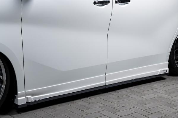 30 アルファード | サイドステップ【エクスクルージブ ゼウス】アルファード 30 G/X 後期 GRACE LINE サイドステップ 塗装済:202ブラック