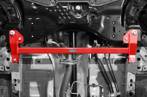 DE デミオ | 補強パーツ / 室外 その他【オートエクゼ】デミオ DE系 5MT/4AT車 ロアアームバー 1ピース構造2点式 フロント用
