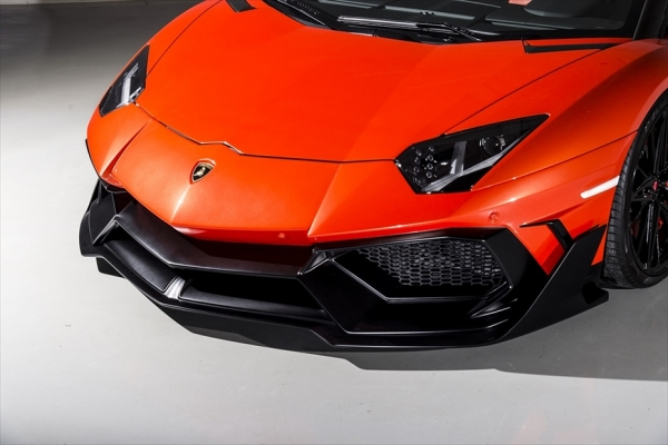Aventador アヴェンタドール | フロントバンパー【エイムゲイン】アヴェンタドール AIMGAIN GT type2 フロントバンパー(ナンバーベース付)FRP製