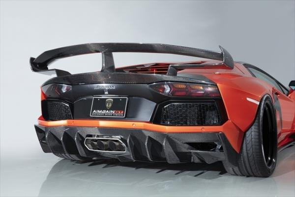 最大80%オフ! Aventador アヴェンタドール   リアアンダー / ディフューザー【エイムゲイン】アヴェンタドール AIMGAIN GT type2 WIDE BODY KIT リアディフューザーtype2 カーボン製, ペンキのササキ 7567a910