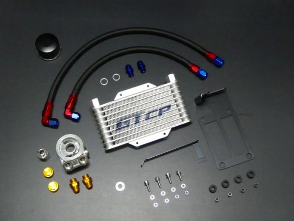 Cappuccino オイルクーラー GT CAR PRODUCE カプチーノ 期間限定で特別価格 GTカープロデュース オイルクーラーキット 油温油圧アダプター 2個付 EA11R メーカー直送