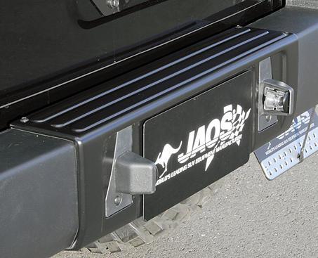 JEEP WRANGLER JK | リアバンパーカバー / リアハーフ【ジャオス】JKラングラー 07.03- (スペアタイヤブラケット装着車のみ/B320901) JAOS リヤバンパーカバー マットブラック[全車対応色] 塗装済