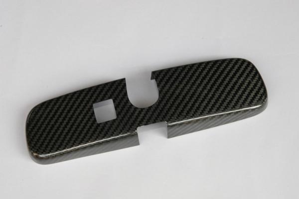 GT-R R35 | ルームミラー【アールエスダブリュ】GT-R R35 ルームミラーパネル 綾織ブラックカーボン製 デュポンクリア塗装済