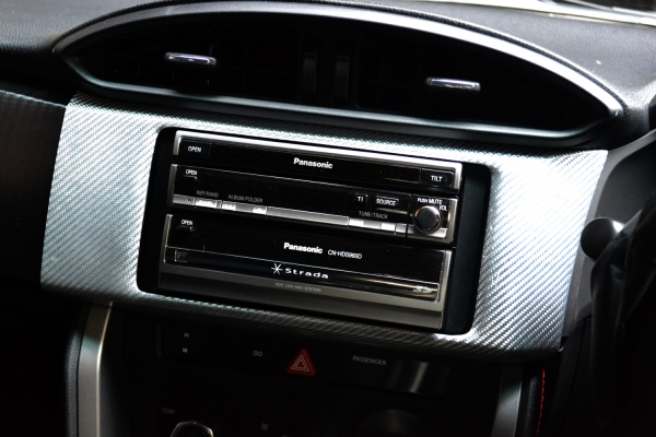 86 - ハチロク - | インテリアパネル【アールエスダブリュ】86 ZN6/BRZ ZC6 オーディオパネル デュポンクリア塗装済 シルバーカーボン