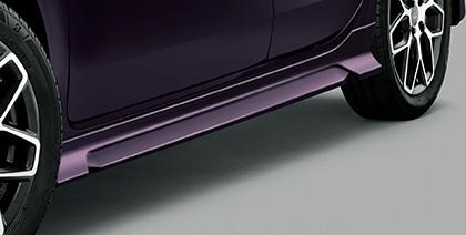 N-WGN | サイドステップ【ムゲン】N-WGN JH3/4 G/L/L-T サイドスポイラー 塗装済 プレミアムベルベットパープルパール (PB89P)