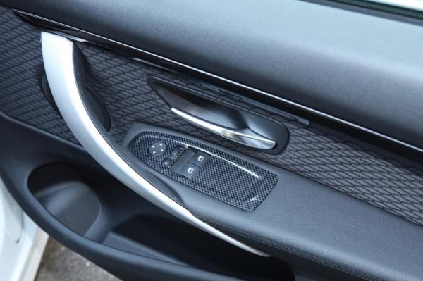 BMW 4 Series F32/F33   インテリアパネル【アールエスダブリュ】BMW 4シリーズ(F32/F33/F36)用 ウィンドゥスイッチパネル(左右セット) 平織ブラックカーボン製 (デュポンクリア塗装仕上げ)
