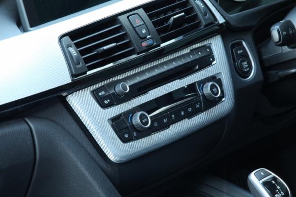 BMW 3 Series F30/F31/F34 | コンソールパネル【アールエスダブリュ】BMW F30/F31/F34 コントロールパネル シルバーカーボン製 デュポンクリア塗装済