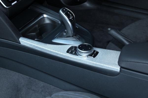 BMW 3 Series F30/F31/F34   コンソールパネル【アールエスダブリュ】BMW F30/F31/F34 センターコンソールパネル シルバーカーボン製 デュポンクリア塗装済