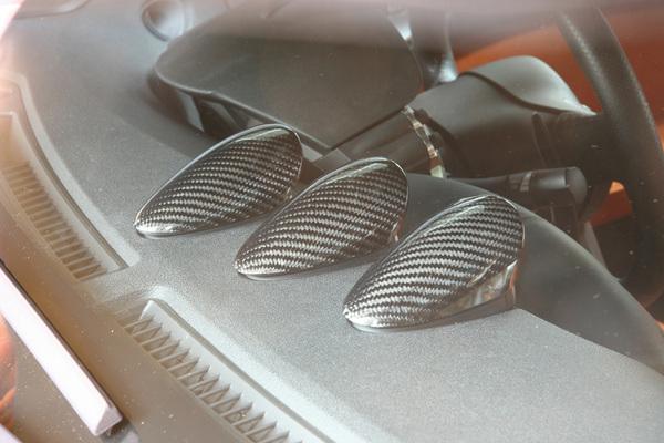 Z34 | 内装パーツ / その他【アールエスダブリュ】Z34 フェアレディZ 3連メーターパネル3個セット 綾織ブラックカーボン製