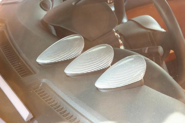 Z34 | 内装パーツ / その他【アールエスダブリュ】フェアレディZ Z34 3連メーターパネル3個セット シルバーカーボン製