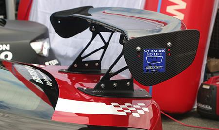 86 - ハチロク -   GT-WING【ランド エアロテック】86 DIRect 3D GT-WING センターマウント付き 本体&翼端板カーボン ステー90mm