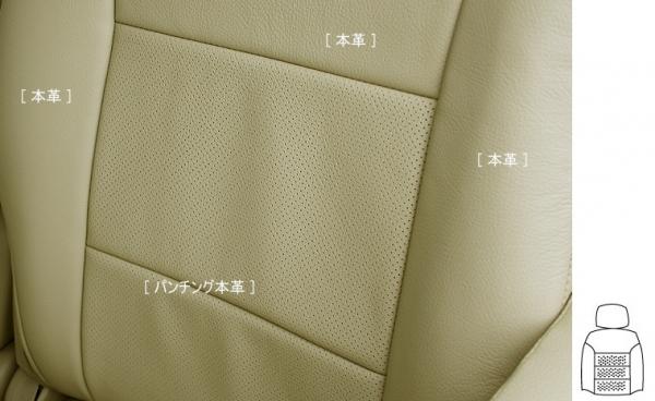 E11 ノート | シートカバー【オートウェア】ノート E11 本革シートカバー 後期 2列目背もたれ一体型車