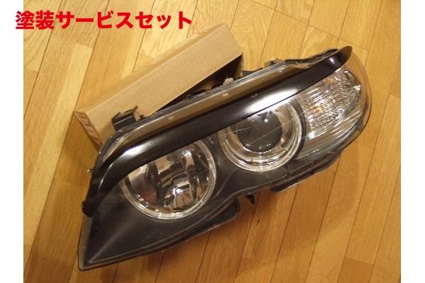 ★色番号塗装発送BMW X5 E53 | アイライン【シルキーシャークプロジェクト】BMW X5 E53 後期型 アイライン ブラックカーボン 平織り