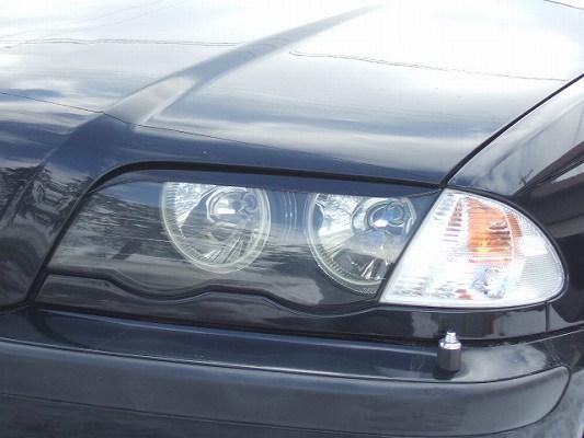BMW 3 Series E46 | アイライン【シルキーシャークプロジェクト】BMW 3シリーズ E46 前期型 セダン アイライン Type2 ブラックカーボン 綾織り
