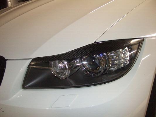 BMW 3 Series E90   アイライン【シルキーシャークプロジェクト】BMW 3シリーズ E90/E91 後期型 (LCIモデル) アイライン Type2 シルバーカーボン