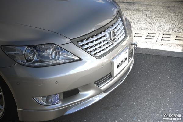 LEXUS LS | フロントリップ【スキッパー】SKPDEZIGN Smart Line Series LEXUS LS460 中期Version SZ Front lip spoiler CFRP(カーボン)シルバ-・素地品